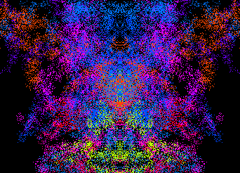 image of inkblot screen saver