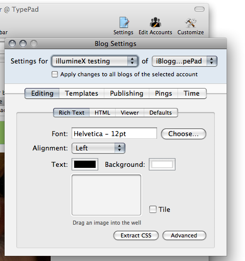 ecto 3 blog settings screen shot